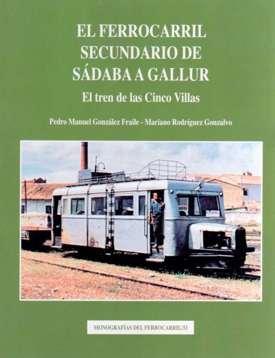 portada del libro ferrocarril, sadaba-gallur